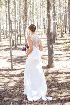 Love the back of this dress! So chic - perfect for a destination wedding.