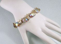 Vintage Bracelet in Goldtone with Aurora by CharmedCollectibles, $40.00