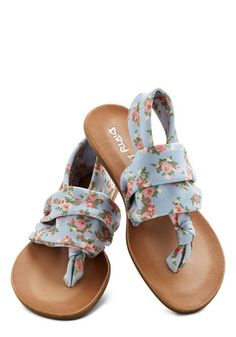Stay in the Loop Sandal in Pastel Floral, #ModCloth