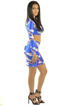 Taste The Rainbow Blue Dress | Sexyback Boutique