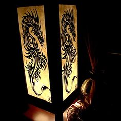 Black Iron Dragon White Handmade Asian Oriental Wood Table Paper Gift Bedside Night Light Bulbs Bedroom Accessories Home Decor Living Room Bedside Homemade Art Garden Outdoor Floor Japanese Modern Vintage Christmas Desk Lamp Free Adapter Us 2 Pin Plug 606 * Read more reviews of the product by visiting the link on the image.