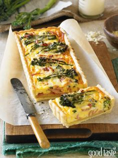 Broccolini & Bacon Tart: perfect for brunch, lunch or a picnic
