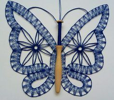 Bobbin Lacemaking, Lace Heart, Lace Jewelry, Lace Detail, Tatting, Embroidery Designs, Butterfly, Pattern, Doilies