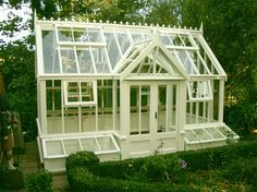 Having a shed in either your back yard or garden is now a popular sight in the majority of today's households. Storing away the kid's bikes and outdoor toys or simply keeping the garden tools safe and dry, a shed is a great storage s Pvc Greenhouse, Greenhouse Gardening, Patio, Backyard, What Is A Conservatory, Cold Frame Gardening, Victorian Greenhouses, Garden Boxes, Garden Sheds