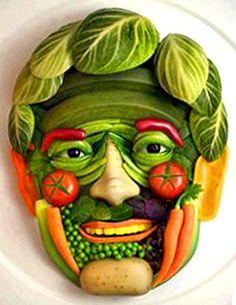 Vegetable portrait.