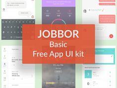 Jobbor App UI Kit - http://freebiesjedi.com/2016/10/jobbor-app-ui-kit/