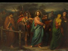Heinrich Hofmann The Capture of Christ, 1856 – Oil on canvas, Hessisches Landesmuseum, Darmstadt, Germany; Life Of Christ, In Christ Alone, Lds Art, Bible Art, Jesus Pictures, Bible Pictures, Biblical Art, Jesus Lives, Holy Week