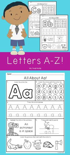 Alphabet Letters - Six Fun Letter Activities on each Worksheet!