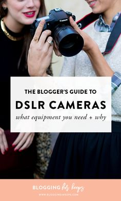 Looking to up your blog's photography in a major way? That all starts with the right camera & lens! Click for our FREE guide which helps you figure out which DSLR equipment is right for you!