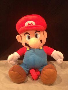"""Super Mario Bros Mario Plush Doll Backpack 18"""" 2010 Nintendo Unused COLLECTOR 3+ #Nintendo"""