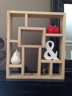 "Geometric Shelf, Display Shelf, Handcrafted Made To Order, Custom Shelving, Mid-Century Modern, Maple Wood, 20x17"""