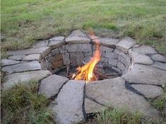 in ground fire pit by Angel_77