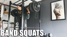 Beltless Band Squats for Overload | Squat Every Day!  This week's assistance band #squats @ #homegym, all beltless, worked-up to a couple heavy singles. Still #squatting 5-6 days a week :) #training #gymsessions #workouts #homegyms #gyms #fitness #powerlifting #strength #vlog #vlogging #youtubers #guys #manbun