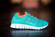 "I want these soooo bad!!! ""Nike Free Powerlines+ II Miami Dolphins"""