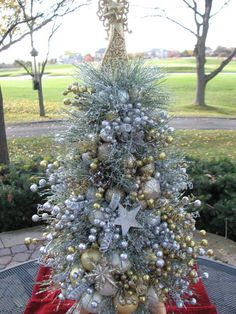 Christmas Topiary Christmas Tree Small by CelebrateAndDecorate, $198.50