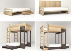 unusual bunk beds for kids | Pluunk Series : Modern Bunk Bed and Single Bed for the Kids | ArtRSS