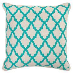 Serafina Turquoise Pillow Set of 2 @Zinc_Door