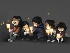 """좋아요 205개, 댓글 5개 - Instagram의 Jung Ha(@hzzzha)님: """"Candle lights will not go out #drawing#draw#illust#illustagram #박근혜퇴진#1126#demo"""""""