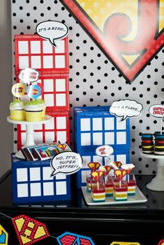 superman party- kryptonite cupcakes, great instructions with party