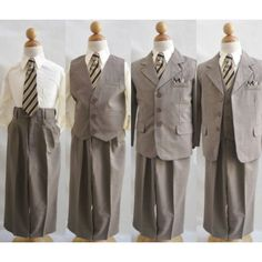 #Wallao offers 5 Pieces #Suit for #boys in #Brown #Light. Bag up this #amazing #offer now or view more #collections at http://wallao.com/special-boys-suit-5-pieces-set | #boysuit #boytuxedo #ringbearer  #wallao