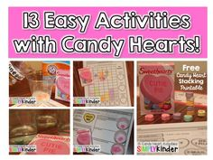 13 Easy Activities you can do with Candy Hearts for Valentine's Day!  #SimplyKinder