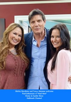 """SET YOUR DVR'S FOR TOMORROW! Shirley Bovshow and Tanya Memme with Paul Johansson of """"Mad Men!"""" EdenMakers.com"""