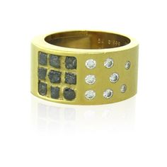 Cartier 18k Gold Rough Diamond Wide Band Ring Available on our July 21st Auction @ hamptonauction.com