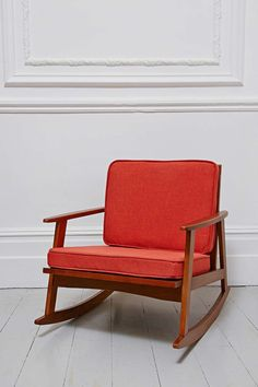 Mid Century Rocking Chair in Orange