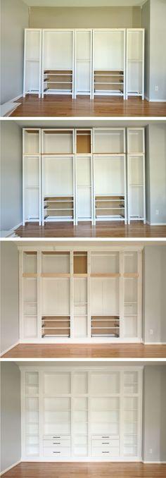 So verwandelst du dein Billy von Ikea in ein edles Einbauregal - ikea kleine küchen