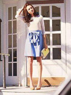 JUSGLITTY(ジャスグリッティー)バックデザインAラインスカート