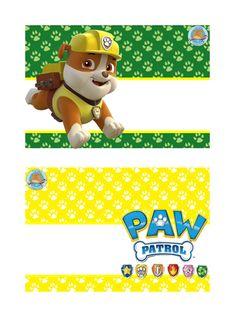 Gafetes (4) - Imagenes Educativas Paw Patrol Cake, Paw Patrol Party, Disney Junior Birthday, Imprimibles Paw Patrol, Paw Patrol Birthday Theme, Cumple Paw Patrol, 5th Birthday Party Ideas, School Images, Puppy Party