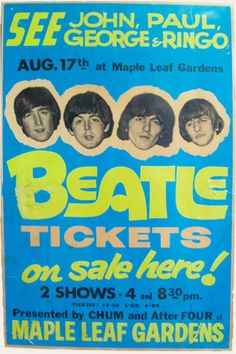 The Beatles perform at Maple Leaf Gardens, Toronto, Ontario.