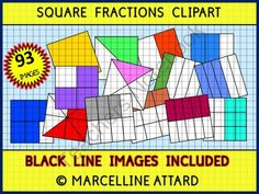 SQUARE FRACTIONS CLIPART - 93 IMAGES!! - OK FOR COMMERCIAL USE from FREEYOURHEART on TeachersNotebook.com -  (93 pages)  - This is a cute set of 93 (79 color+14 black line) SQUARE FRACTIONS clipart.  In this set you will find these fraction representations: 1 (whole) 1/2 to 2/2 (whole) 1/3 to 3/3 1/4 to 4/4 1/5 to 5/5 1/6 to 6/6 1/8 to 8/8 1/9 to 9/9 1/10 to 10/10 1/12 to 12/