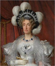 Queen Marie-Amalie(French) and some of her Sapphires