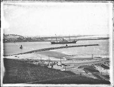 Stockton from Macquarie Pier, Newcastle, NSW, 9 March 1906