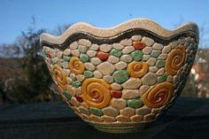 Bukran Unique Arts and Crafts Bowl 16 Birthday by bukranceramics, $89.00