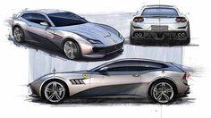 #Ferrari design director Flavio Manzoni's #sketches for the GTC4Lusso #cardesign