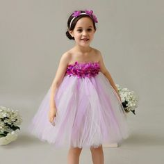 Little Girls Summer Skirt Wedding Flower Girl Princess Dress