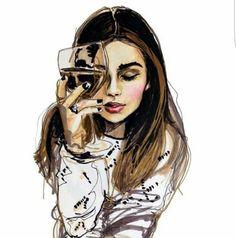Excellent Images For - Fashion Portrait Illustration Art And Illustration, Art Illustrations, Fashion Illustrations, Portrait Illustration, Watercolor Illustration, Saatchi Online, Wow Art, Amazing Art, Fashion Art