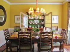 French country style dining room by J. Taylor Branche