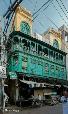 Awesome view of other old building beauty in walled city Lahore Punjab Pakistan