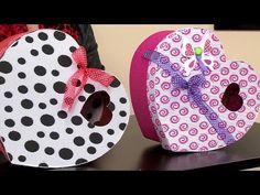 Cómo Hacer una Caja en Forma de Corazón con Cartón Corrugado- Hogar Tv por Juan Gonzalo Angel - YouTube
