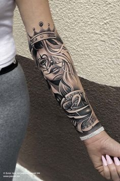 Arm Sleeve Tattoos For Women, Lace Sleeve Tattoos, Feminine Tattoo Sleeves, Dope Tattoos For Women, Black Girls With Tattoos, Girl Arm Tattoos, Feminine Tattoos, Badass Tattoos, Mom Tattoos