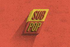 sub pop #typography