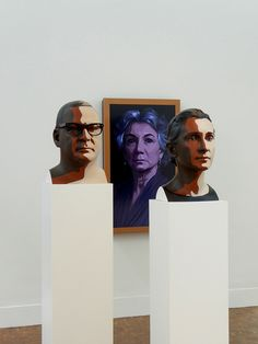 Julian Opie Exhibition: Reed I (2012), Delphine I (2012)