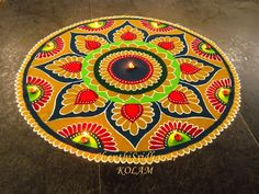 Rangoli designs 2020 for Gudi Padwa are about incorporating flowers in them. Flower wedding rangolis have gained much popularity this wedding season. Indian Rangoli Designs, Rangoli Designs Latest, Rangoli Designs Flower, Rangoli Border Designs, Rangoli Patterns, Rangoli Ideas, Rangoli Designs Images, Rangoli Designs With Dots, Kolam Rangoli