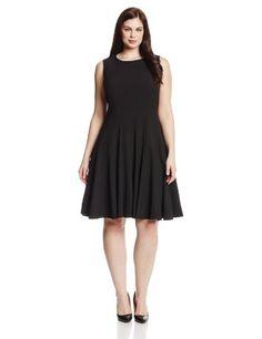 Calvin Klein Women's Plus-Size Sleeveless Solid Flare Dress, Black, 16W Calvin Klein http://www.amazon.com/dp/B00HZFAE5Y/ref=cm_sw_r_pi_dp_EBMXwb0F4G1FF