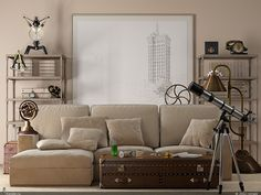 Home Design and Interior Design Gallery of Awesome Beige And Metal Industrial Living Room
