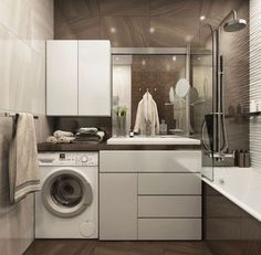 Luxury bathrooms !! In love with the idea - Laundry Room Bathroom, Bathroom Cabinetry, Narrow Bathroom, Bathroom Renovations, Modern Bathroom, Bathroom Marble, French Bathroom, Bathroom Vanities, Bathroom Ideas