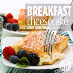 Everyone loves delicious desserts and sweets! Find easy dessert recipes for every occasion. Breakfast Cheesecake, Breakfast Desayunos, Breakfast Pastries, Brunch Recipes, Breakfast Recipes, Dessert Recipes, Pavlova, Pastry Recipes, Cooking Recipes